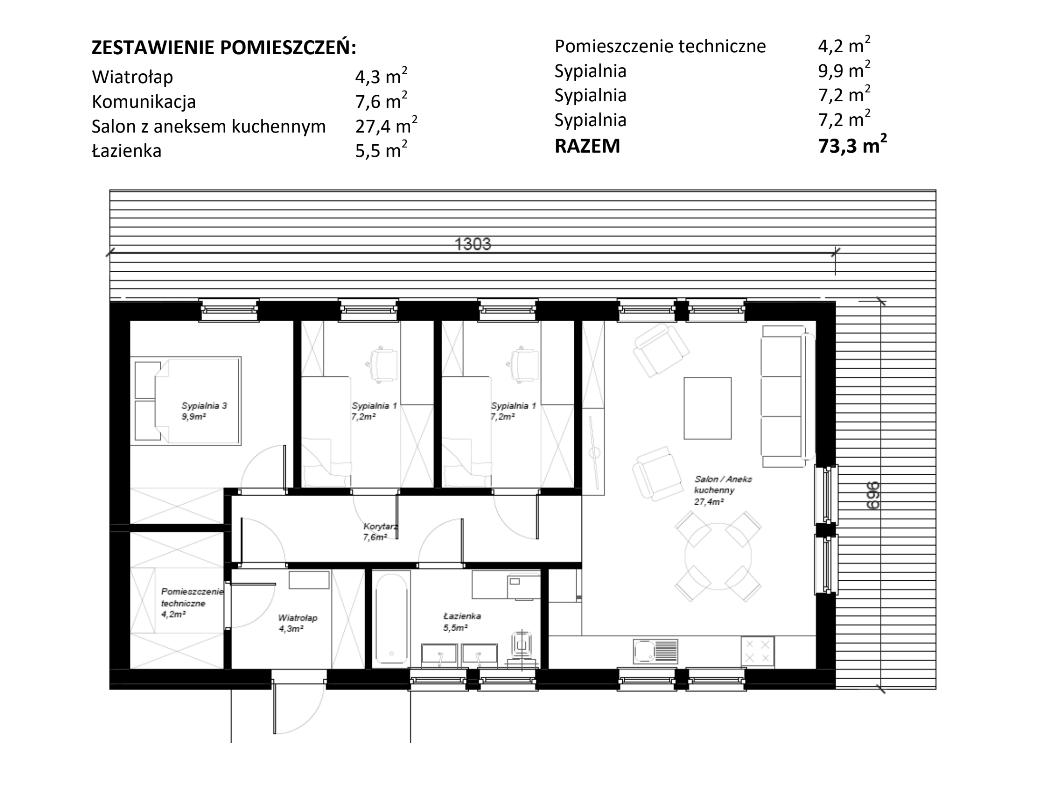 Plan parteru - wersja 1