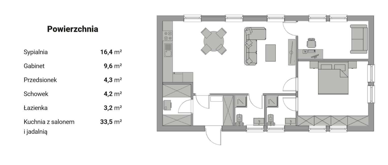 Plan parteru - wersja 2