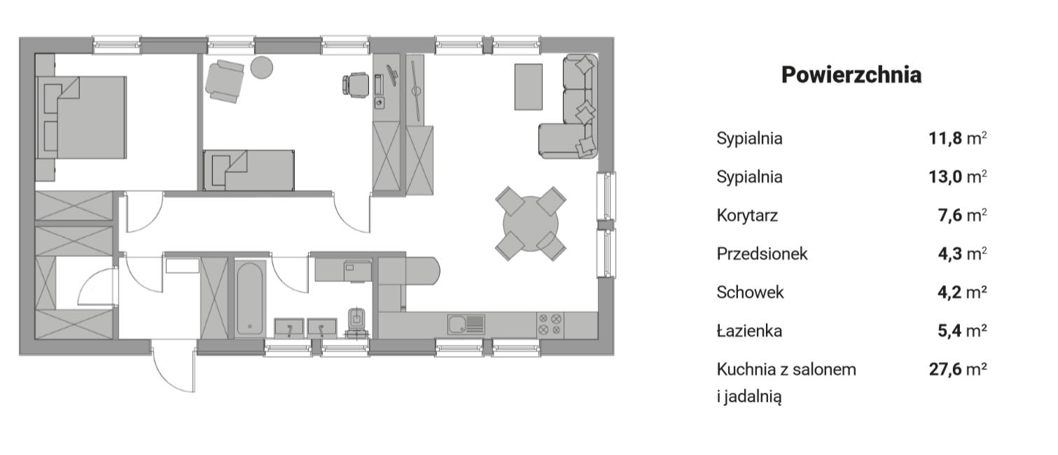 Plan parteru - wersja 3