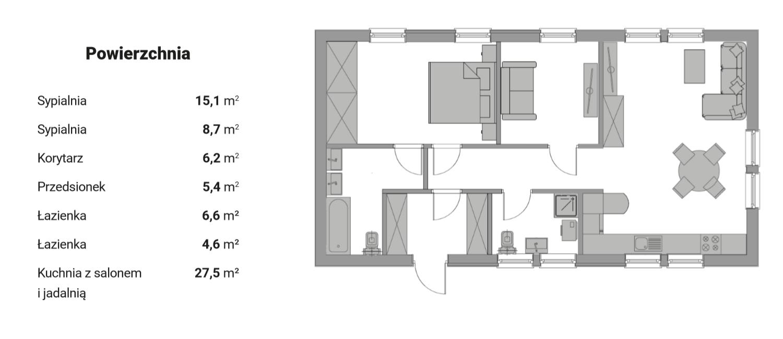 Plan parteru - wersja 4