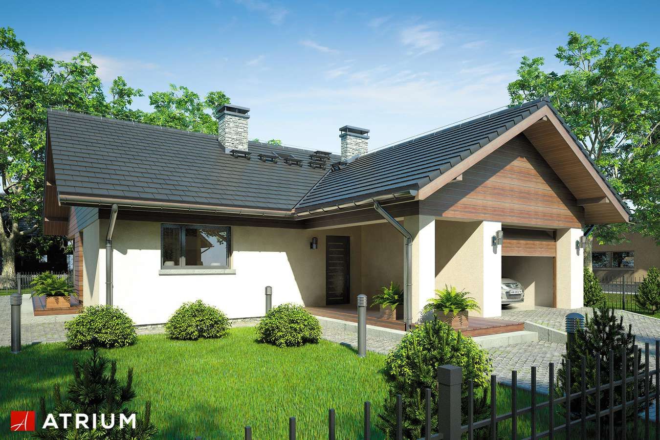Dom parterowy 110m2, 3 sypialnie, garaż 21m2